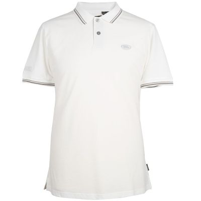 Мужская рубашка-поло Land Rover Men's Oval Badge Polo Shirt, White