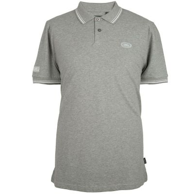 Мужская рубашка-поло Land Rover Men's Oval Badge Polo Shirt, Grey Marl