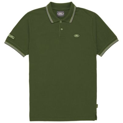 Мужская рубашка-поло Land Rover Men's Oval Badge Polo Shirt, Green