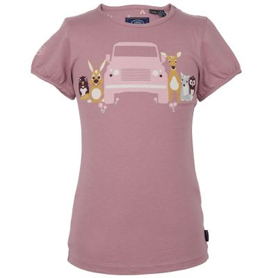 Футболка для девочек Land Rover Girls Graphic T-shirt, Duski Pink