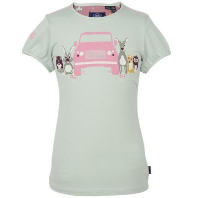 Футболка для девочек Land Rover Girls Graphic T-shirt, Mint Green