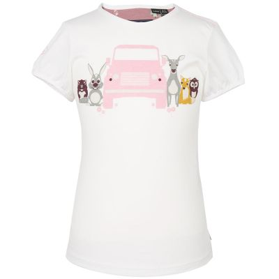 Футболка для девочек Land Rover Girls Graphic T-shirt, White
