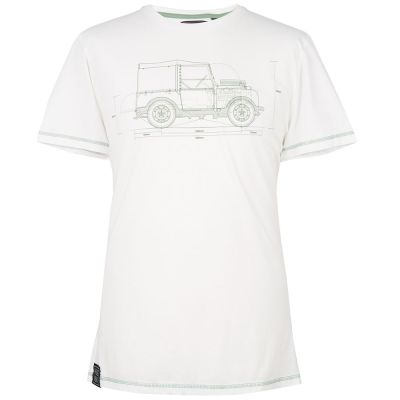 Мужская футболка Land Rover Men's Hue Graphic T-Shirt, White
