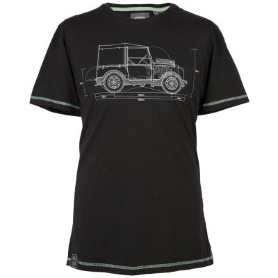 Мужская футболка Land Rover Men's Hue Graphic T-Shirt, Black