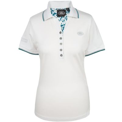 Женская рубашка-поло Land Rover Women's Oval Badge Polo Shirt, White