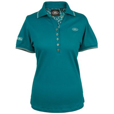 Женская рубашка-поло Land Rover Women's Oval Badge Polo Shirt, Teal