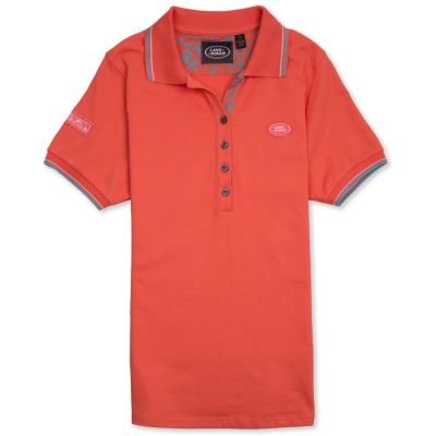 Женская рубашка-поло Land Rover Women's Oval Badge Polo Shirt, Coral