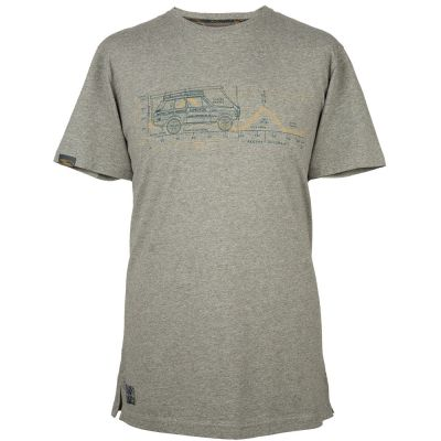 Мужская футболка Land Rover Men's Heritage Graphic Tee, Grey Marl