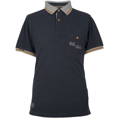 Мужская рубашка-поло Land Rover Men's Heritage Polo Shirt, Navy/Grey