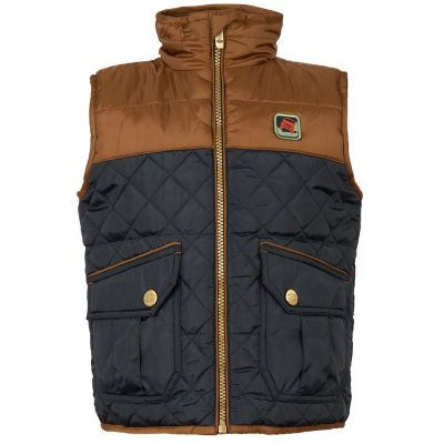 Жилет для мальчиков Land Rover Boys Quilted Gilet, Navy/Brown