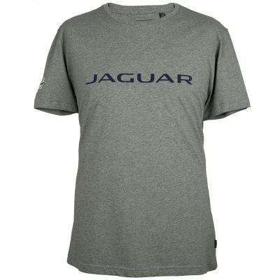 Мужская футболка Jaguar Men's Wordmark Graphic T-shirt, Grey Marl / Blue