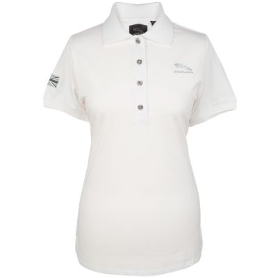 Женская рубашка-поло Jaguar Women's Leaper Logo Polo Shirt, White