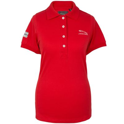 Женская рубашка-поло Jaguar Women's Leaper Logo Polo Shirt, Red
