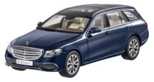 Модель Mercedes-Benz E-Class, Estate, Exclusive, Cavansite Blue, 1:18 Scale