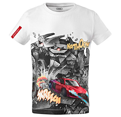 Детская футболка Audi Kids Shirt Comic Print, Audi Sport, White