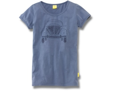 Женская футболка Volkswagen Beetle T-Shirt, Nicknames, Ladies, Blue