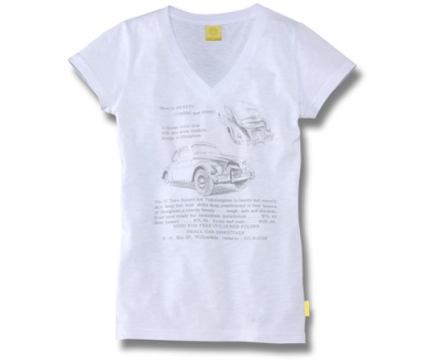 Женская футболка Volkswagen Beetle T-Shirt, Beauty Coming Soon, Ladies, White