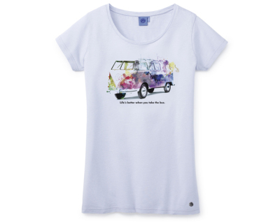 Женская футболка Volkswagen T1 T-Shirt, Ladies, Summer Edition, Light Blue