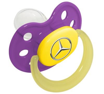 Соска-пустышка Mercedes Soother, Purple