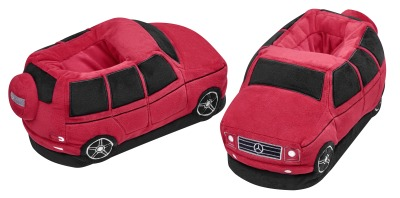 Плюшевые тапочки Mercedes-Benz Plush Slippers, Red