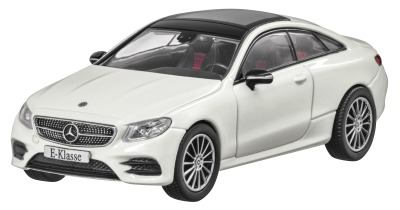 Модель Mercedes-Benz E-Class Coupé (C238), AMG Line, Scale 1:43, Designo Diamond White Bright