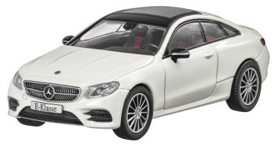 Модель Mercedes-Benz E-Class Coupé (C238), AMG Line, Scale 1:43, Designo Diamond White Bright