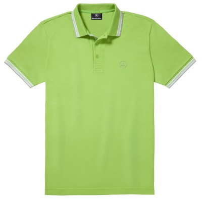 Мужская рубашка-поло Mercedes-Benz Men's Polo Shirt, Boss Green, Green