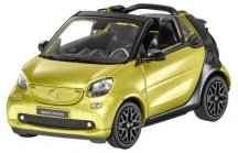 Модель Smart Fortwo Cabrio (A453), Black-to-yellow / Black, Scale 1:43