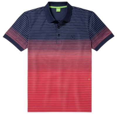Мужская рубашка поло Mercedes-Benz Men's Polo Shirt, Boss Green, Navy / Red