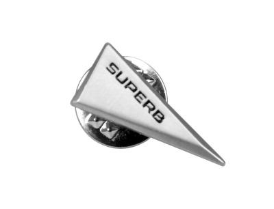 Металлический значок Skoda Pin Superb, Triangular, Silver