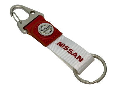 Брелок Nissan Key Ring, White/Red