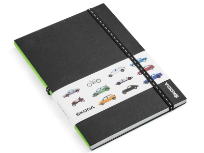Блокнот Skoda Notebook with Škodajis Car Motives