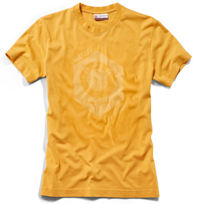 Мужская футболка BMW Motorrad T-shirt, Men, Make Life a Ride, Yellow