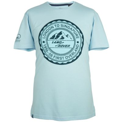 Мужская футболка Land Rover Men's Travel Stamp Graphic T-Shirt, Light Blue