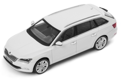 Модель автомобиля Skoda Superb Combi III, Scale 1:43, Moon White