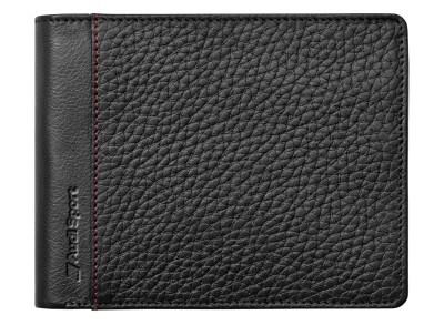cffe5dd49ffe Мужской кожаный кошелек Audi Sport Men's Wallet Leather, Black