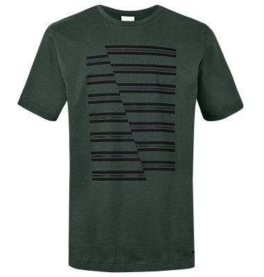Мужская футболка Mini JCW Stripes Men's T-Shirt, Racing Green