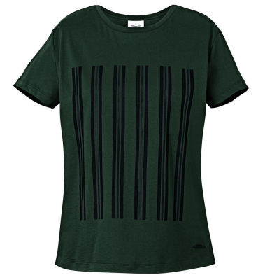 Женская футболка MINI JCW Stripes T-Shirt Women's, Racing Green