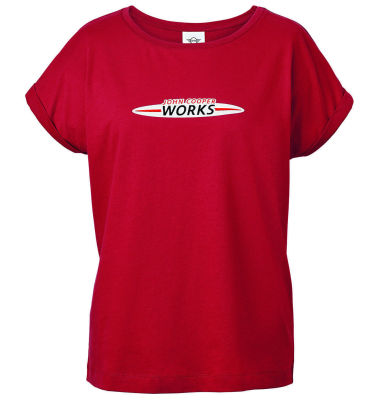 Женская футболка MINI JCW Logo T-Shirt Women's, Chili Red