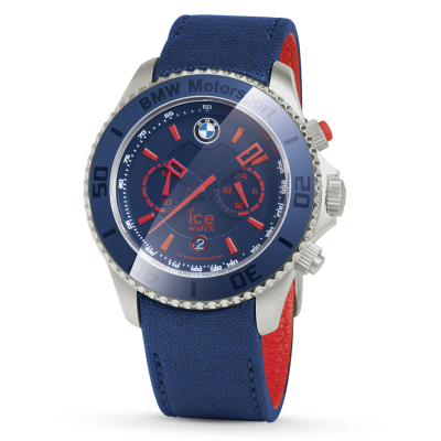 Часы BMW Motorsport ICE Watch Steel Chrono, unisex, Team Blue with M Red