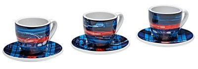 Набор из трех чашек для эспрессо Porsche Espresso Cups, Limited Edition, Martini Racing Collection