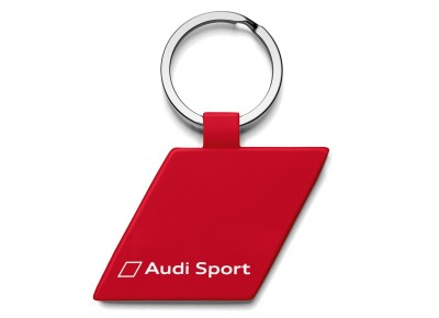 Брелок Audi Sport Key Ring, Rhombus, metal, Red