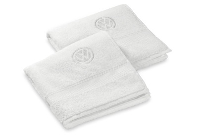 Набор из 2-х полотенец для рук Volkswagen Logo Hands Towel, 2 pcs, White