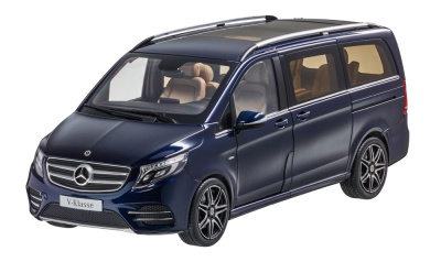 Модель Mercedes-Benz V-Class BR447 AMG Line, Limited Edition 1000 ex., Cavansit Blue Metallic, 1:18 Scale