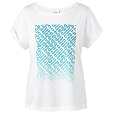 Женская футболка Mini T-Shirt Women's Signet, White/Aqua