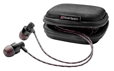 Наушники петельки Audi Sport In Ear Plugs, Black/Red