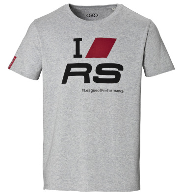 Мужская футболка Audi Sport Mens T-Shirt, I Love RS, Grey