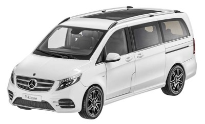 Модель Mercedes-Benz V-Class BR447 AMG Line, Limited Edition 1000 ex., Mountain Crystal White, 1:18 Scale