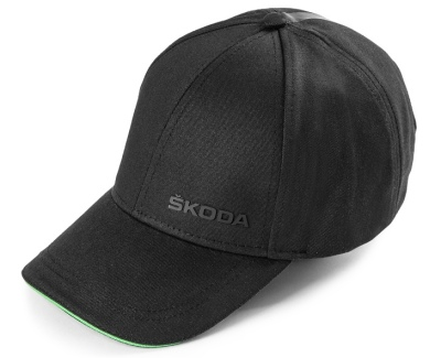 Бейсболка Skoda Baseball Cap Logo, Black/Green
