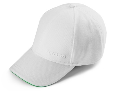 Бейсболка Skoda Baseball Cap Logo, White/Green